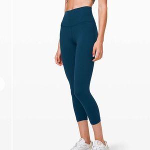 "Lululemon Align Crop Legging Pants *21"" Night Diver"